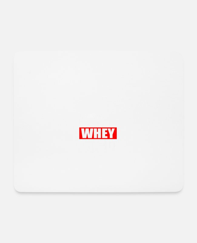 Beast Mode Mouse Pads - Funny Gym Sports Whey - Mouse Pad white