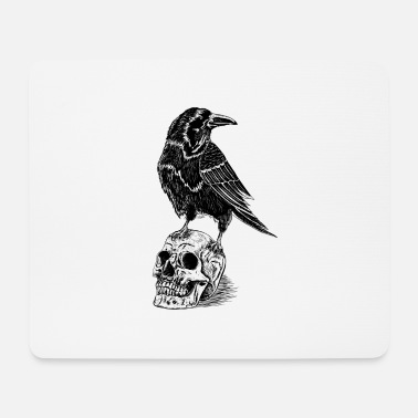 Raven and skull - Mouse Pad