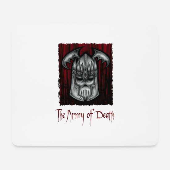 Phantasie Mousepads  - The Army of Death - Mousepad Weiß
