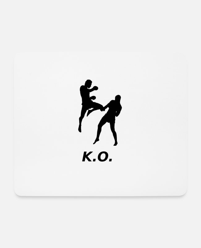 Martial Arts Mouse Pads - KO - Mouse Pad white