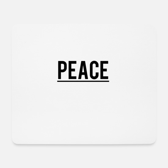 Gift Idea Mouse Pads - peace - Mouse Pad white