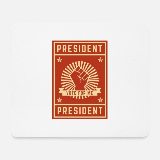 Republicans Mouse Pads - Vote for me - Mouse Pad white