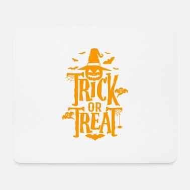 Halloween TRICK OR TREAT Halloween quote costume - Mouse Pad