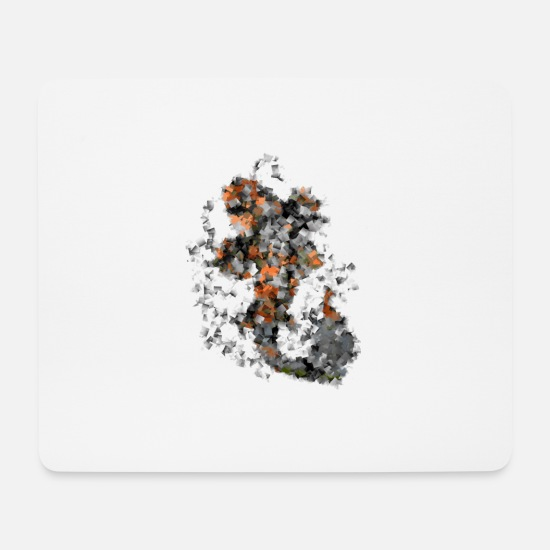 Carp Mouse Pads - abstract carp - Mouse Pad white