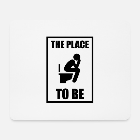 Toilet Brush Mouse Pads - Toilet gift, bathroom toilet, farting farts - Mouse Pad white