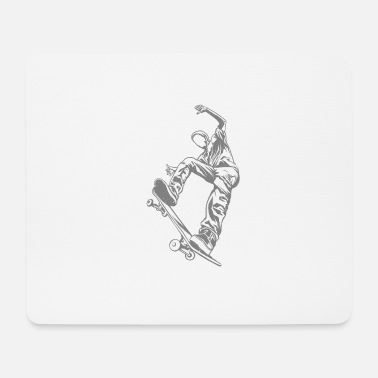 Skateboard Skateboarder with skateboard - Mouse Pad