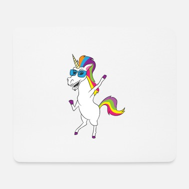 Mythical Collection SUNGLASS UNICORN - UNICORN WITH SUNGLASSES - Mouse Pad