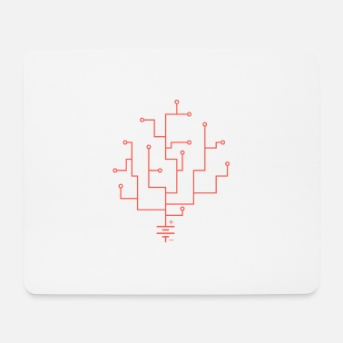 Electric Coral sharp - Mouse Pad