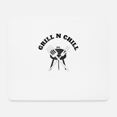 Grill grill with grill tools - Mouse Pad