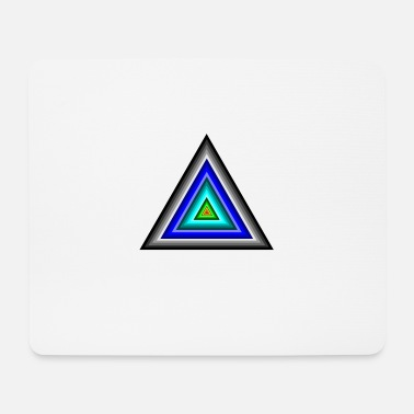 Triangle Triangles in triangle - Mouse Pad