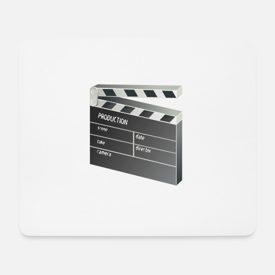 Hollywood Mousepads  - Film Klappe - Mousepad Weiß