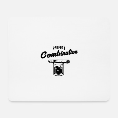 Combination Cigar Whiskey Perfect Combination - Mouse Pad