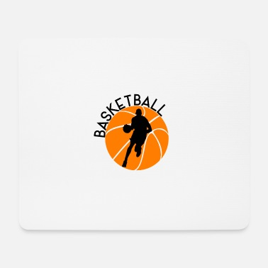 Dribbling Basketball Silhouette Sport Dribbling - Mouse Pad