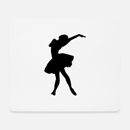 Ballerina Mouse Pads - Silhouette Ballerina - Mouse Pad white