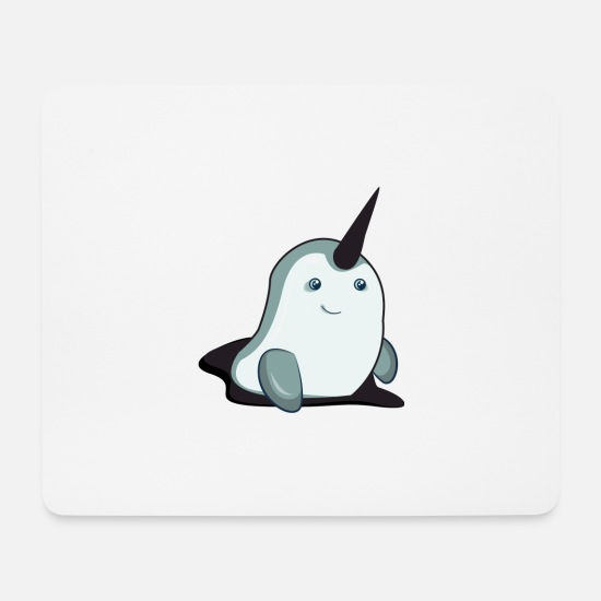 Birthday Mouse Pads - Sweet narwhal - Mouse Pad white