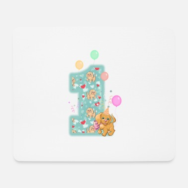 1st Birthday Celebrate 1st Birthday Dogs - Mouse Pad