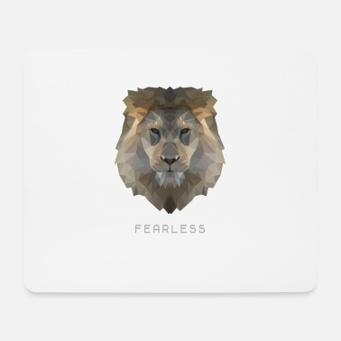 Lion fearless - Mouse Pad