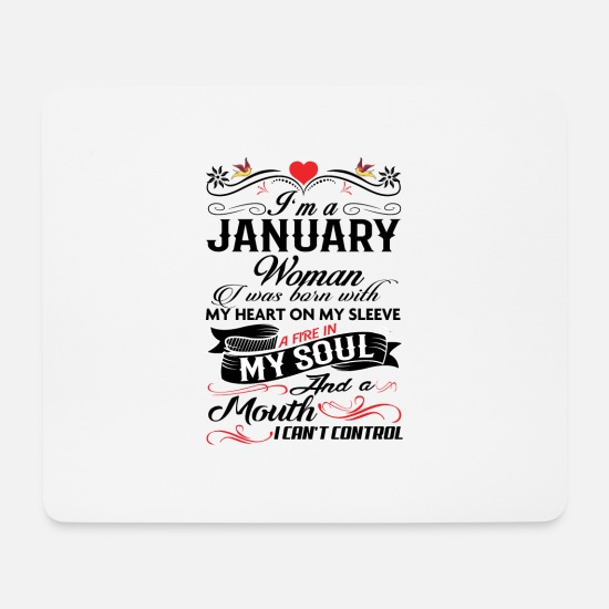 Woman Mouse Pads - JANUARY WOMAN - Mouse Pad white