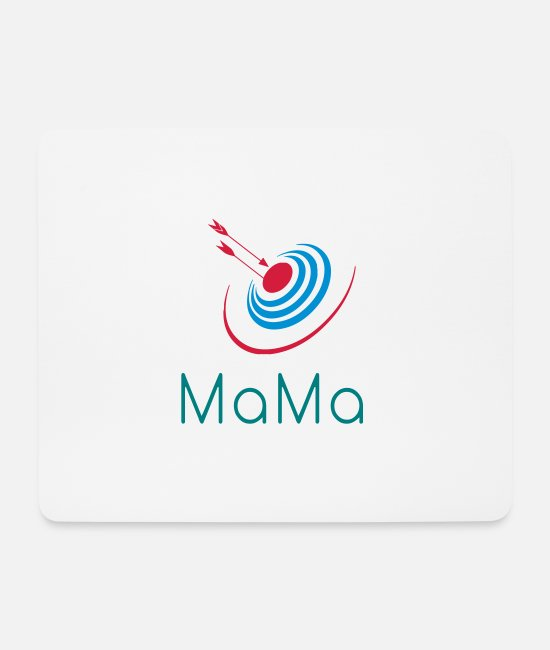 Triple Mouse Pads - Darts MaMa Bellseye Target - Mouse Pad white