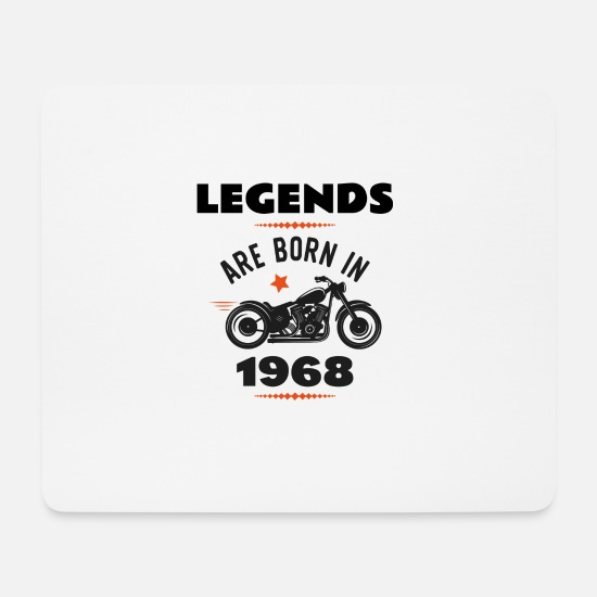 Born Mousepads  - born in 1968 - Mousepad Weiß