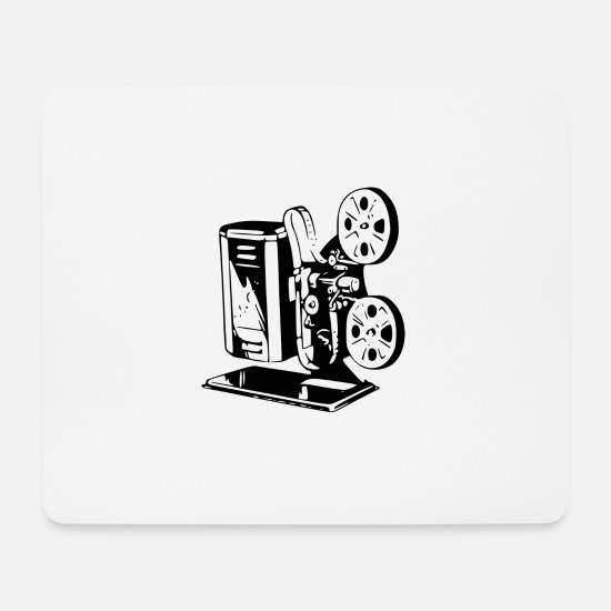 Hollywood Mousepads  - Film Projektor - Mousepad Weiß