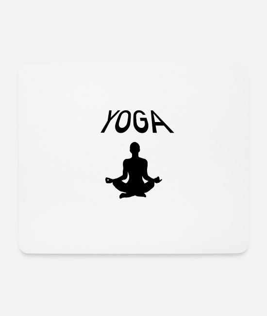 Training Mouse Pads - YOGA - Mouse Pad white