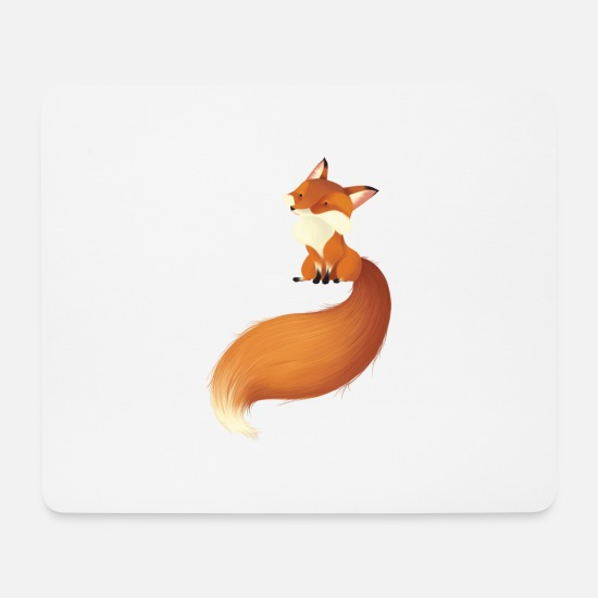 Fox Mouse Pads - fox - Mouse Pad white