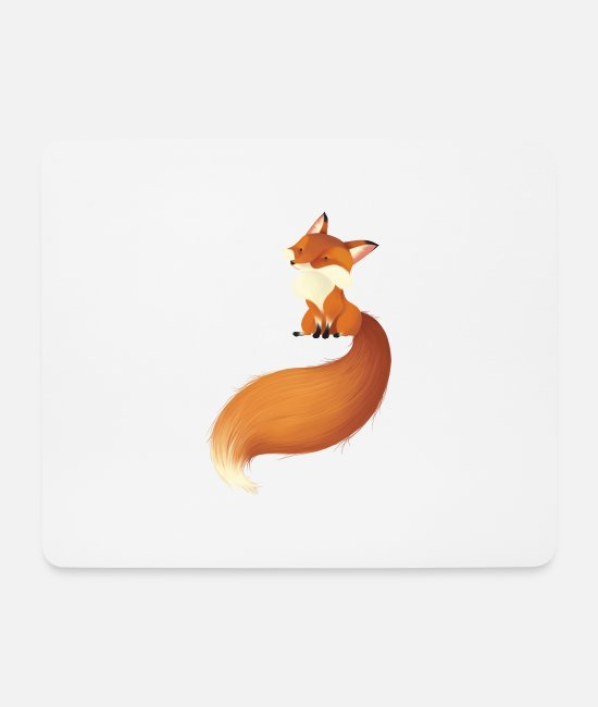Red Mouse Pads - fox - Mouse Pad white