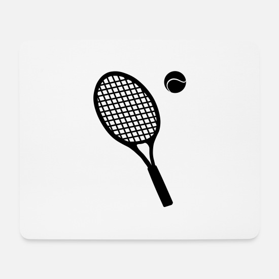 Gold Mouse Pads - Tennis racket - Mouse Pad white