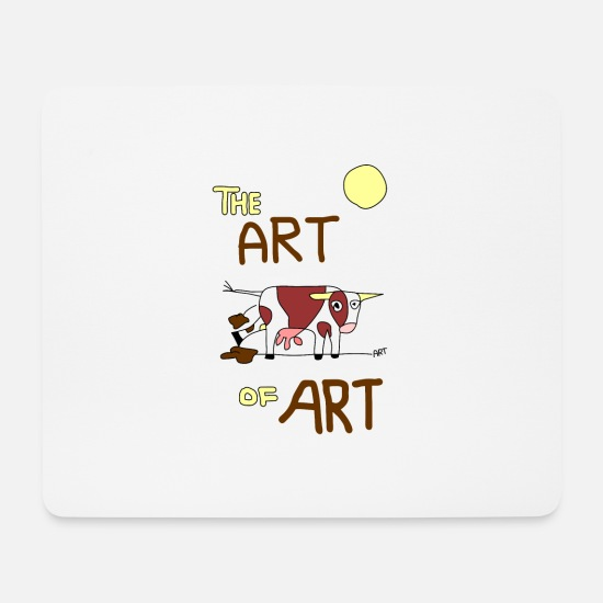 Künstler Mousepads  - the ART of ART - Mousepad Weiß