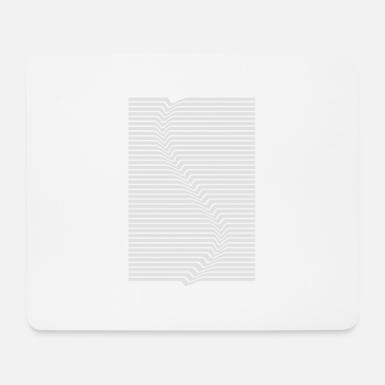 Waves Mouse Pads - Abstract lines art surfing in the water - Mouse Pad white