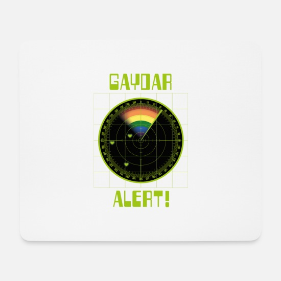 Queer Mouse Pads - Gaydar Screen – Gaydar Alert - Mouse Pad white
