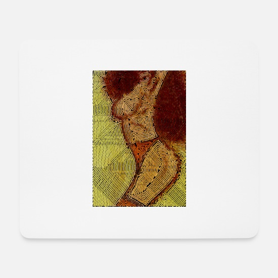 Womens Soccer Mouse Pads - Mosaic woman - Mouse Pad white