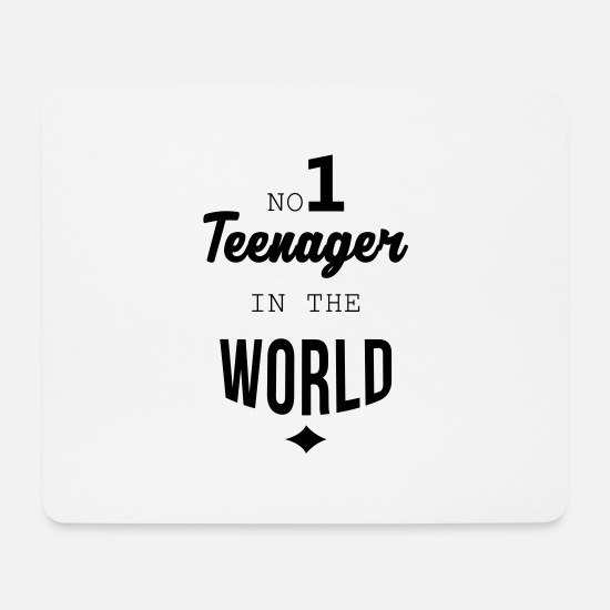 Teenager Mousepads  - Teenager / Jugendliche / Jugendlicher / Kind - Mousepad Weiß