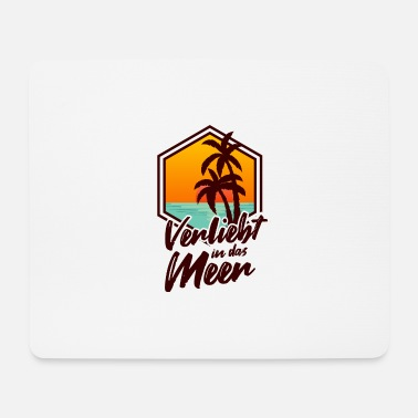 Caribbean In Love With The Sea Surfer Vacation Beach Gift - Mouse Pad