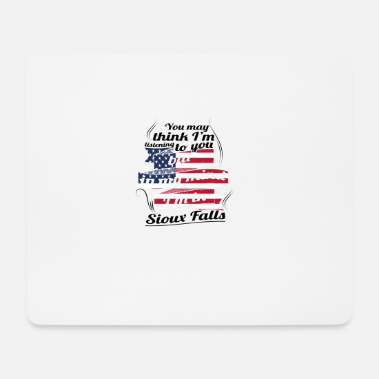 Travel Mouse Pads - THERAPY HOLIDAY AMERICA USA TRAVEL Sioux Falls - Mouse Pad white