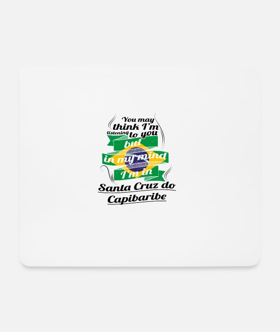 Travel Bug Mouse Pads - HOLIDAYS brazil brazil TRAVEL IM IN Brazil Santa - Mouse Pad white