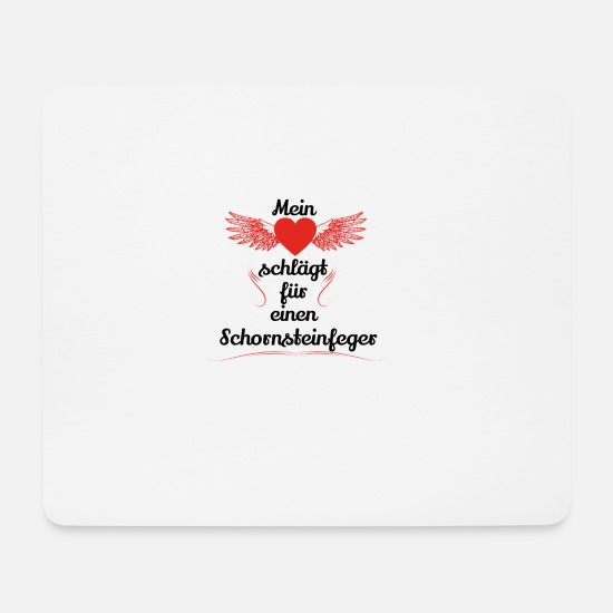 Birthday Mouse Pads - gift heart beats girlfriend chimney sweep - Mouse Pad white