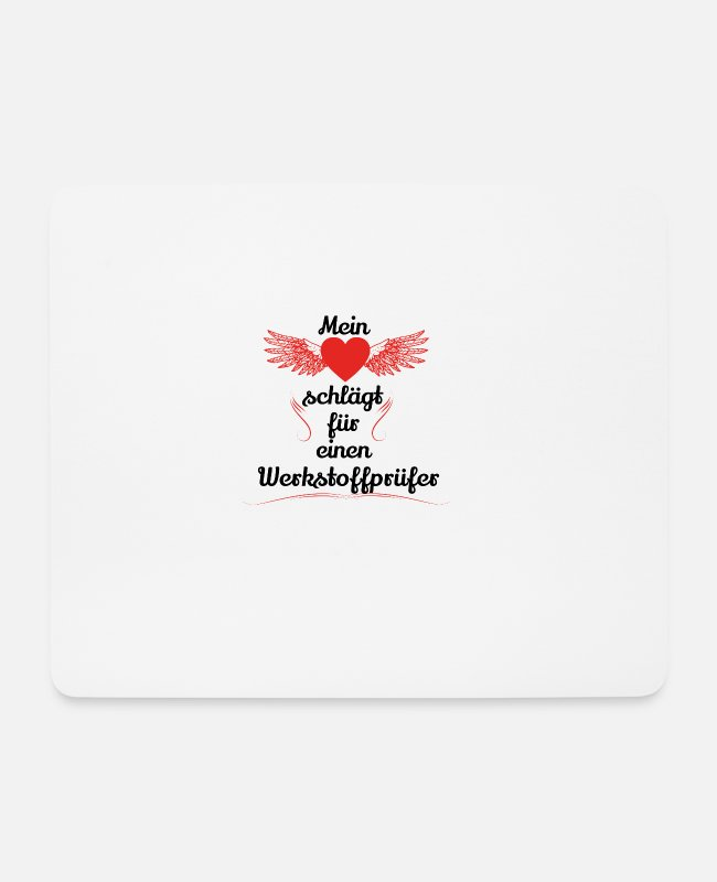 Heart Mouse Pads - gift heart beats girlfriend materials tester - Mouse Pad white