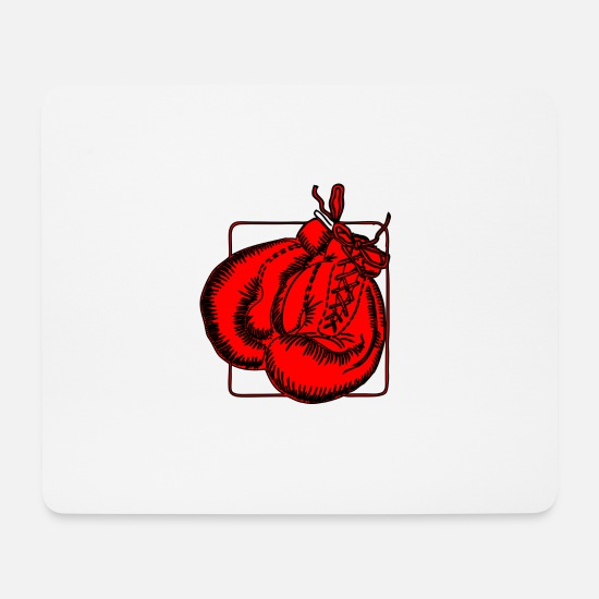 Boxing Gloves Mouse Pads - Red boxing gloves Boxing gloves - Mouse Pad white
