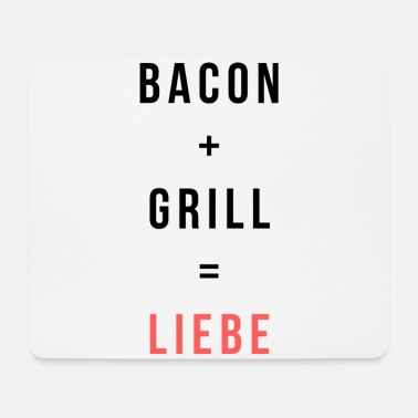 Grill Love Bacon + Grill = Love Shirts Grill Master Collection - Mouse Pad