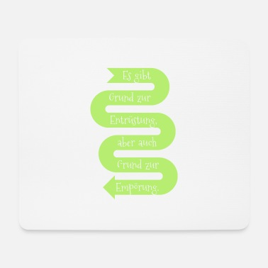Disarmament reason disarmament outrage abstract gift slogan - Mouse Pad