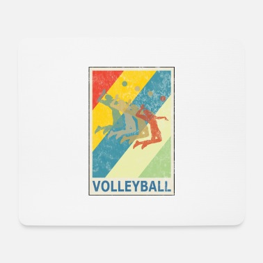 Beach Retro Vintage Style Beach Volleyball Player - Mouse Pad