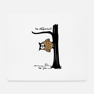 Owl on tree be different, be you - Mouse Pad