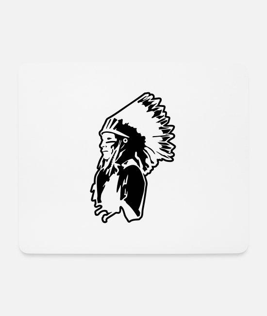 Boss Mouse Pads - Indian Chief - Mouse Pad white