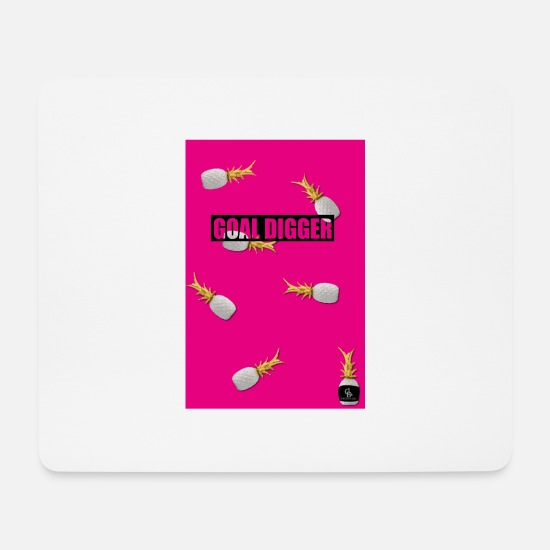 Gold Mouse Pads - goal digger pink - Mouse Pad white