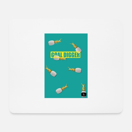 Gold Mouse Pads - goal digger green - Mouse Pad white