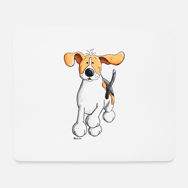 Funny Running Funny Running Beagle - Mouse Pad