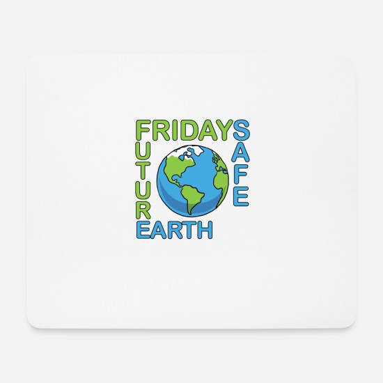 Fridays For Future Mousepads  - Safe Our Earth Fridays for Future - Mousepad Weiß