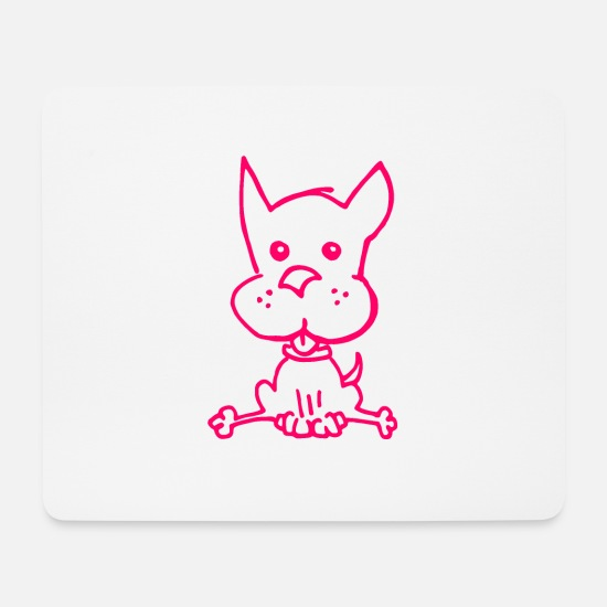 Gift Idea Mouse Pads - Cartoon Chiwauwau in pink - Mouse Pad white